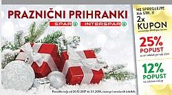 Spar in Interspar katalog Darilni boni do 03. 01.