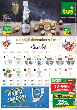 Tuš katalog trgovine in franšize do 11. 12.