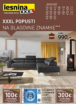 Lesnina katalog XXL popusti do 31. 01.