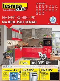 Lesnina katalog Kuhinje do 31. 01.