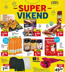 Lidl super vikend do 07. 01.