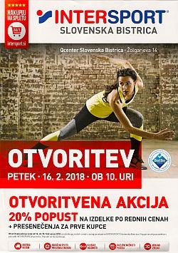 Intersport katalog Otvoritev Slovenska Bistrica