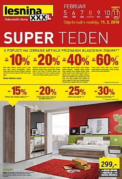 Lesnina katalog Super teden do 11. 02.
