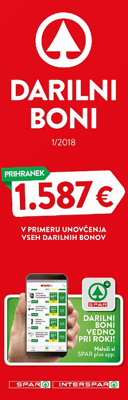 Spar in Interspar katalog Boni 01/2018