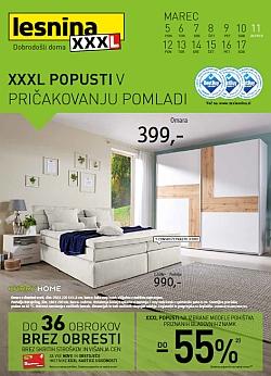 Lesnina katalog XXXL popusti pohištvo do 17. 03.