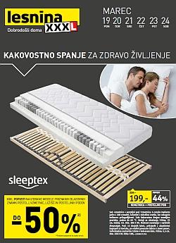 Lesnina katalog Kakovostno spanje do 24. 03.