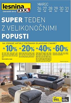 Lesnina katalog Super teden – pohištvo