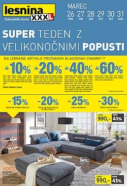 Lesnina katalog Super teden – pohištvo in dodatki