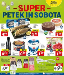 Lidl super petek in sobota do 31. 03.