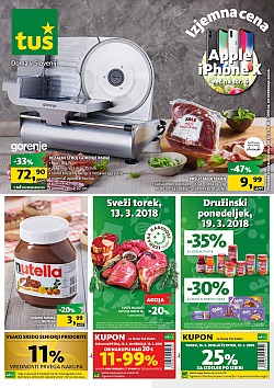 Tuš katalog trgovine in franšize do 19. 03.
