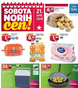 Eurospin akcija Sobota norih cen 21. 04.