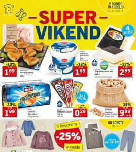 Lidl super vikend do 22. 04.