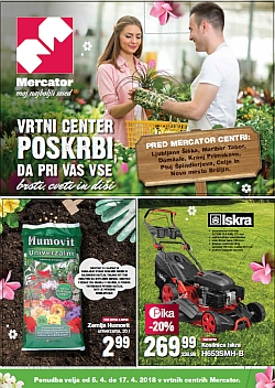 Mercator katalog Vrtni centri do 17. 04.
