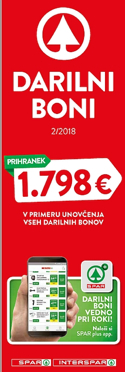 Spar in Interspar katalog Darilni boni 02/18