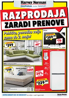 Harvey Norman katalog Razprodaja do 2.5.