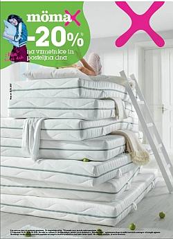 Momax katalog – 20 % na vzmetnice in posteljna dna