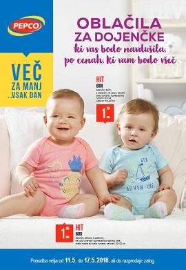 Pepco katalog Oblačila za dojenčke
