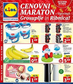 Lidl katalog Cenovni maraton Grosuplje in Ribnica