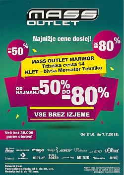 Mass katalog Outlet Maribor do 07. 07.