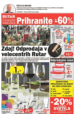 Rutar katalog Prihranite do – 60 %