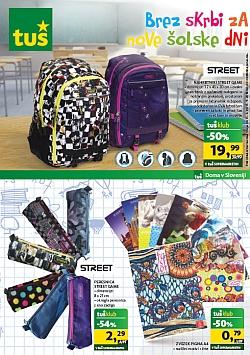 Tuš katalog Brez skrbi v šolske dni do 15. 09.