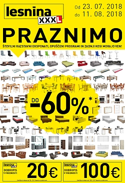 Lesnina katalog Praznimo do 11. 08.