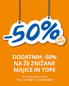Takko akcija Dodatnih – 50 % do 25. 07.