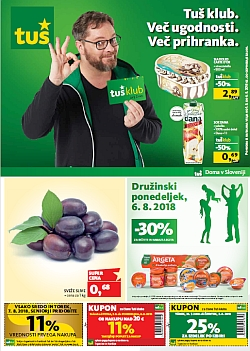 Tuš katalog trgovine in franšize do 06. 08.
