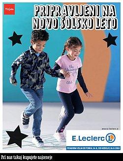 E Leclerc katalog Pripravljeni na novo šolsko leto