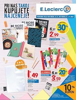 E Leclerc katalog Ljubljana do 02. 09.