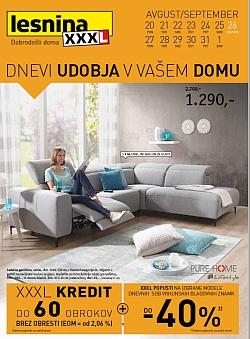 Lesnina katalog Dnevi udobja do 01. 09.