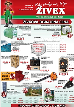 Živex katalog september 2018