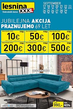 Lesnina katalog Jubilejna akcija pohištvo in dodatki