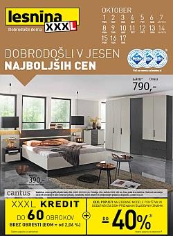 Lesnina katalog Jesen najnižjih cen pohištvo in dodatki