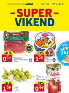 Lidl super vikend do 30. 09.