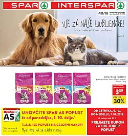 Spar in Interspar katalog do 09. 10.