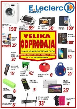 E Leclerc katalog Maribor Velika odprodaja