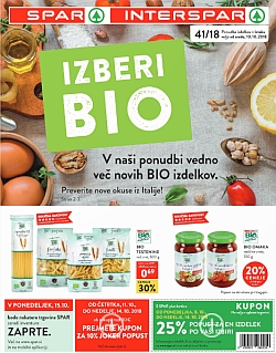 Spar in Interspar katalog do 16. 10.