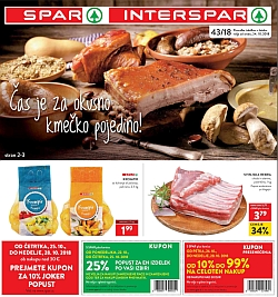 Spar in Interspar katalog do 29. 10.