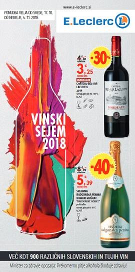E Leclerc katalog Vinski sejem 2018
