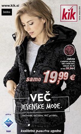 KiK katalog Več jesenske mode