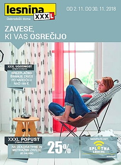 Lesnina katalog Zavese, ki vas osrečijo