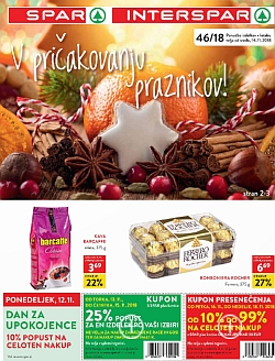 Spar in Interspar katalog do 27. 11.