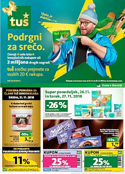Tuš katalog trgovine in franšize do 26. 11.