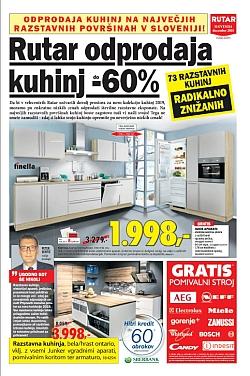 Rutar katalog Odprodaja kuhinj do 31. 12.