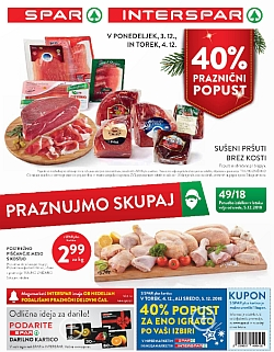 Spar in Interspar katalog do 11. 12.