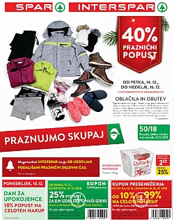 Spar in Interspar katalog do 24. 12.