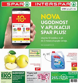Spar in Interspar katalog do 08. 01.