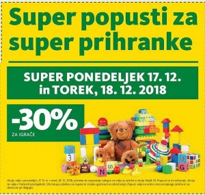 Tuš akcija Super popusti do 18. 12.
