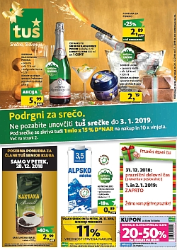 Tuš katalog trgovine in franšize do 07. 01.